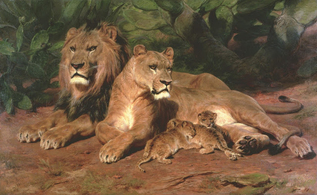 The Lion at Home by Rosa Bonheur
