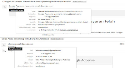 Email approved google adsense