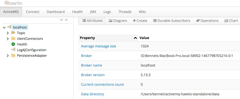 Running Apache ActiveMQ and Hawtio in Standalone Mode