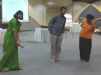 Prof. Sangeetha Madhu explaining concepts through games