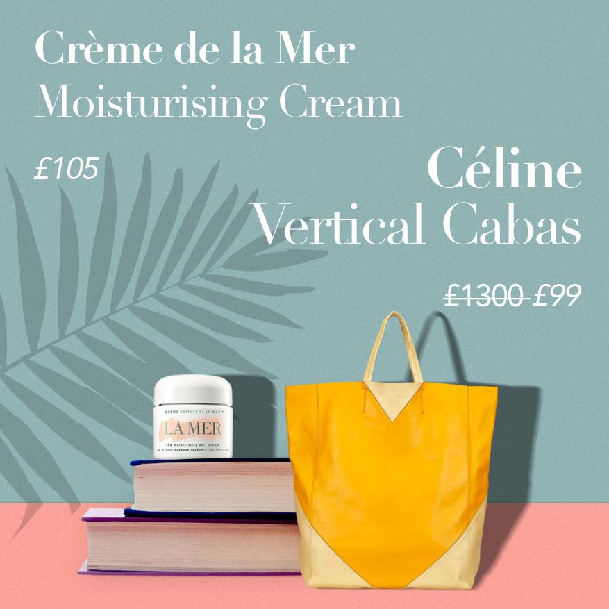 Céline Cabas Vertical Tote or Crème de la Mer Moisturising Cream?