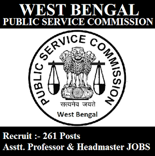 West Bengal Public Service Commission, PSCWB, WB, PSC, West Bengal, Assistant Professor, Professor, Head Master, Post Graduation, freejobalert, Sarkari Naukri, Latest Jobs, pscwb logo