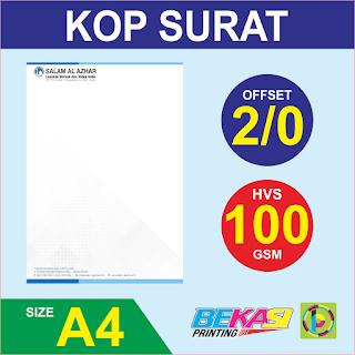 Cetak Kop Surat 2 Warna  HVS 100 GSM