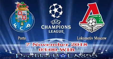 Prediksi Bola855 FC Porto vs Lokomotiv Moscow 7 November 2018