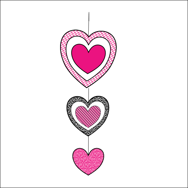 Smarty Pants Fun Printables: Valentines Day Valentines Heart Hanger ...