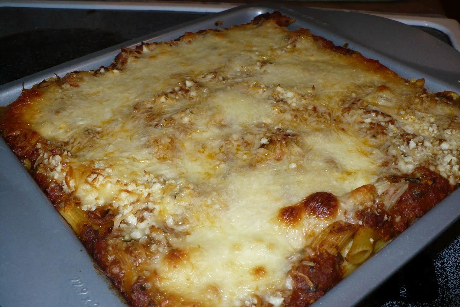 Culinary Musings Baked Ziti With Meat Sauce