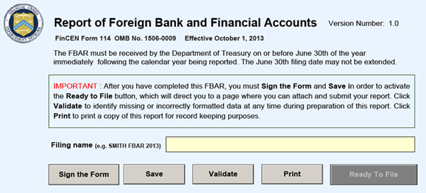 irs foreign bank account form due date