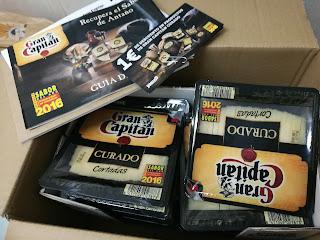 Contenido de la caja de quesos curado Gran Capitán