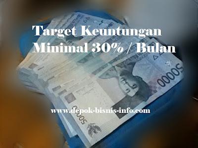 Bisnis, Info, Target, Keuntungan, 30%