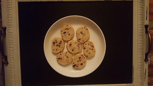 #ChristmasCookies Week ~ Cranberry Orange Shortbread Cookies