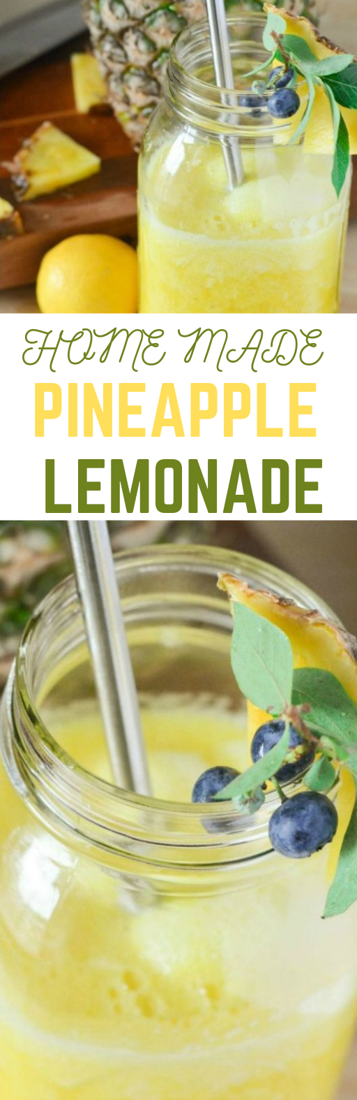 Pineapple Lemonade #recipe #drink