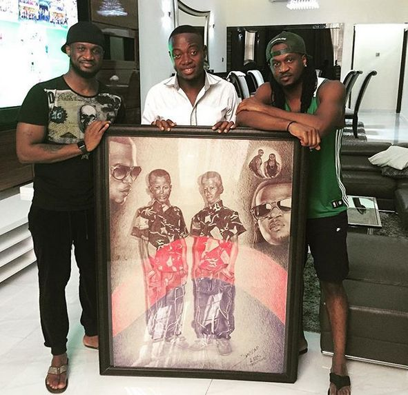 Psquare Okoye Thank A Fan For A New Master Piece
