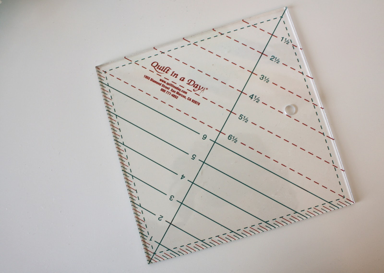 Half Square Triangle Short Cuts : quilt in a day ruler - Adamdwight.com