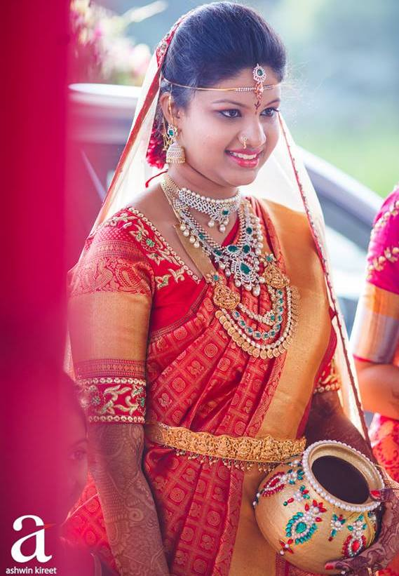 Gorgeous Bride in Ashwin Kireet Photography