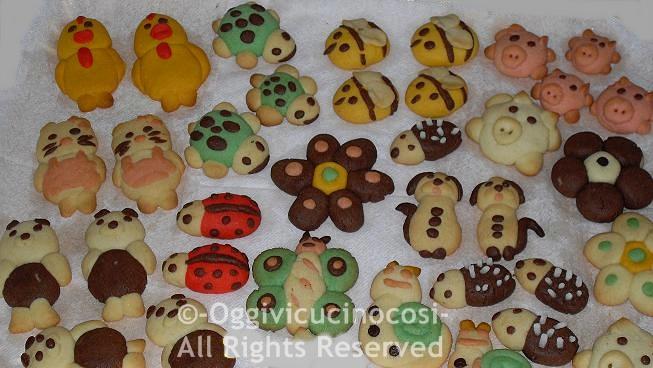 Favoloso Oggi vi cucino così!: Biscotti per bambini- Frollini Animaletti KD67