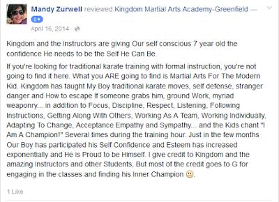 Kids karate Review Greenfield