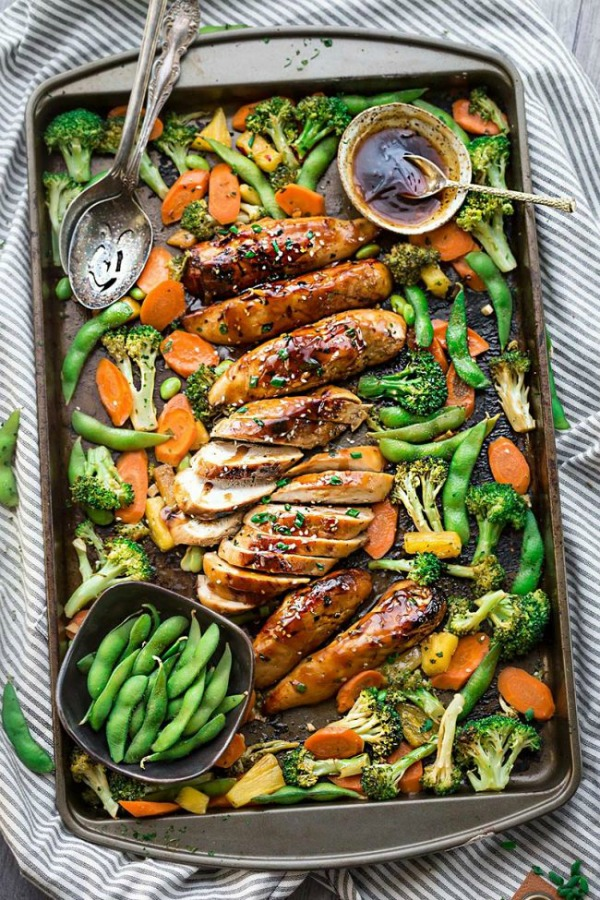 Sheet Pan Teriyaki Chicken with Vegetables from The Recipe Critic.