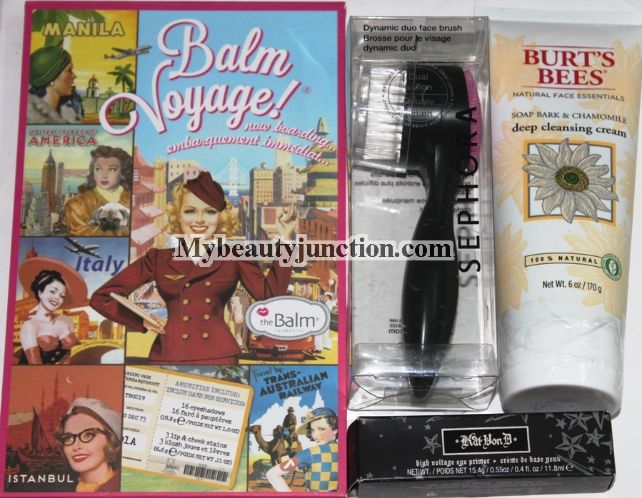 Makeup haul from theBalm, Kat von D, Burt's Bees, Sephora and samples