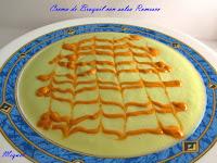 Crema de Bróquil con salsa Romesco