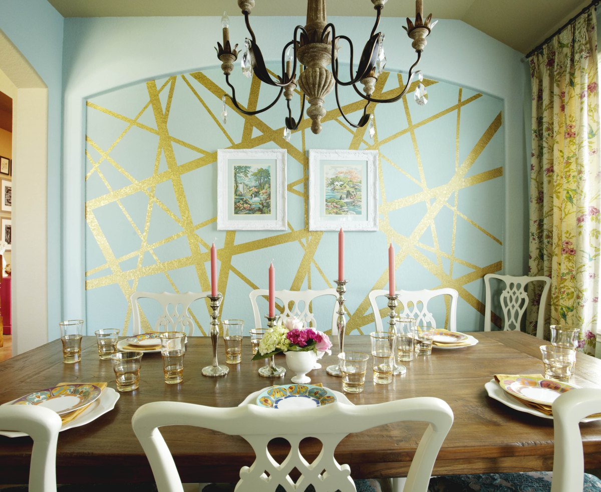 Utilize Masking Tape to Create a Geometric, Abstract Painting ! Home Decor
