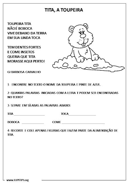 Atividades Alfabetização Português e Matemática