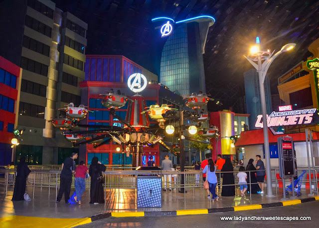 avengers tower at IMG Worlds of Adventure