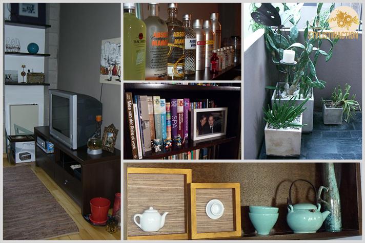 antes y despues mi living primera reforma mueble para la tele detalles macetas cactus y suculentas