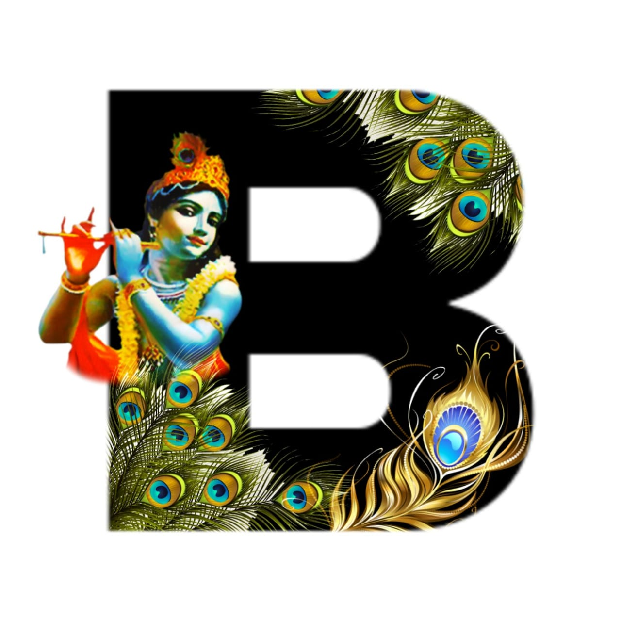 shree krishna alphabet b images
