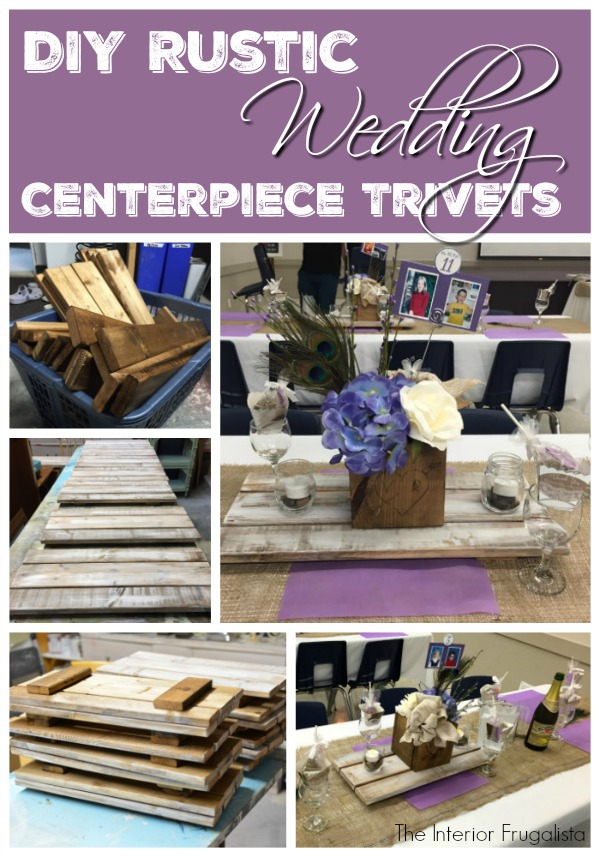 Step-by-step photos and easy-to-follow instructions on how to DIY Rustic Wedding Centerpiece Trivets.
