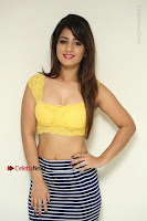Cute Telugu Actress Shunaya Solanki High Definition Spicy Pos in Yellow Top and Skirt  0009.JPG