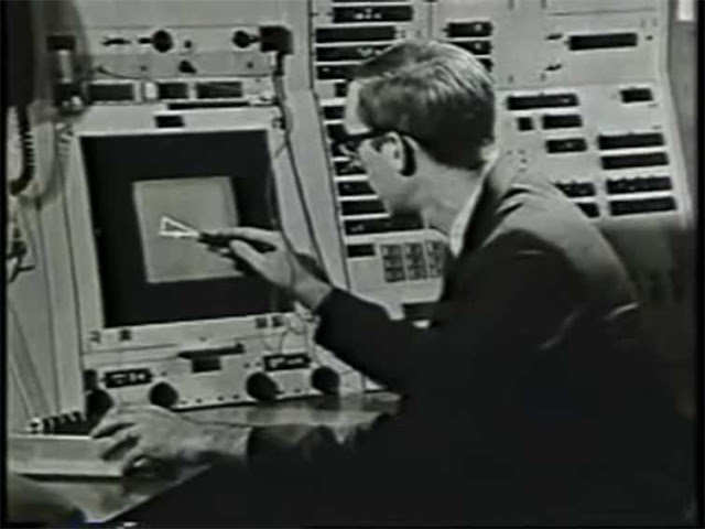 Image Attribute: Ivan Sutherland demonstrating Sketchpad in 1962. Screen grab/YouTube