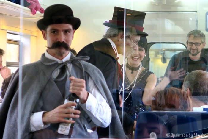 El Tren del Vino de La Rioja 北スペイン・ワインの名産地リオハのワイン列車の中