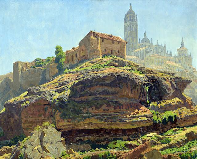 Francisco Núñez Celis, Paisaje de Segovia, Pintores españoles, Paisajistas españoles, Pintores Madrileños