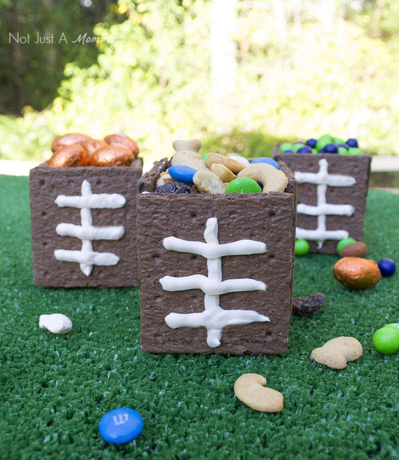 Edible football snack boxes are perfect for game watching parties!