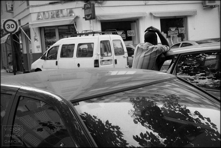 fotografía, retrato, coches, Arriba Extraña, serie, crisis, Murcia