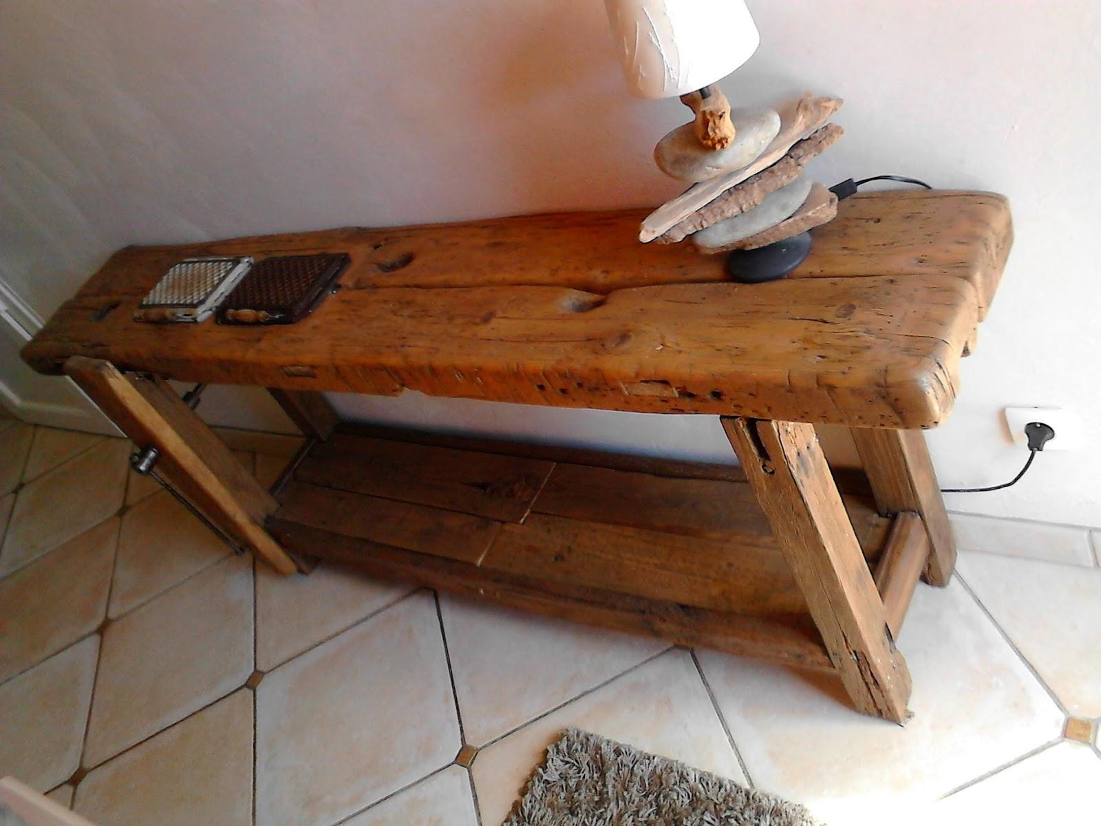meubles et objets de d coration style industriel etabli de menuisier meuble d 39 entr e. Black Bedroom Furniture Sets. Home Design Ideas
