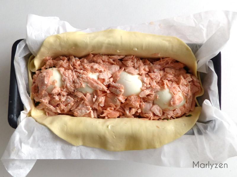 Déposez le saumon sur le tout.