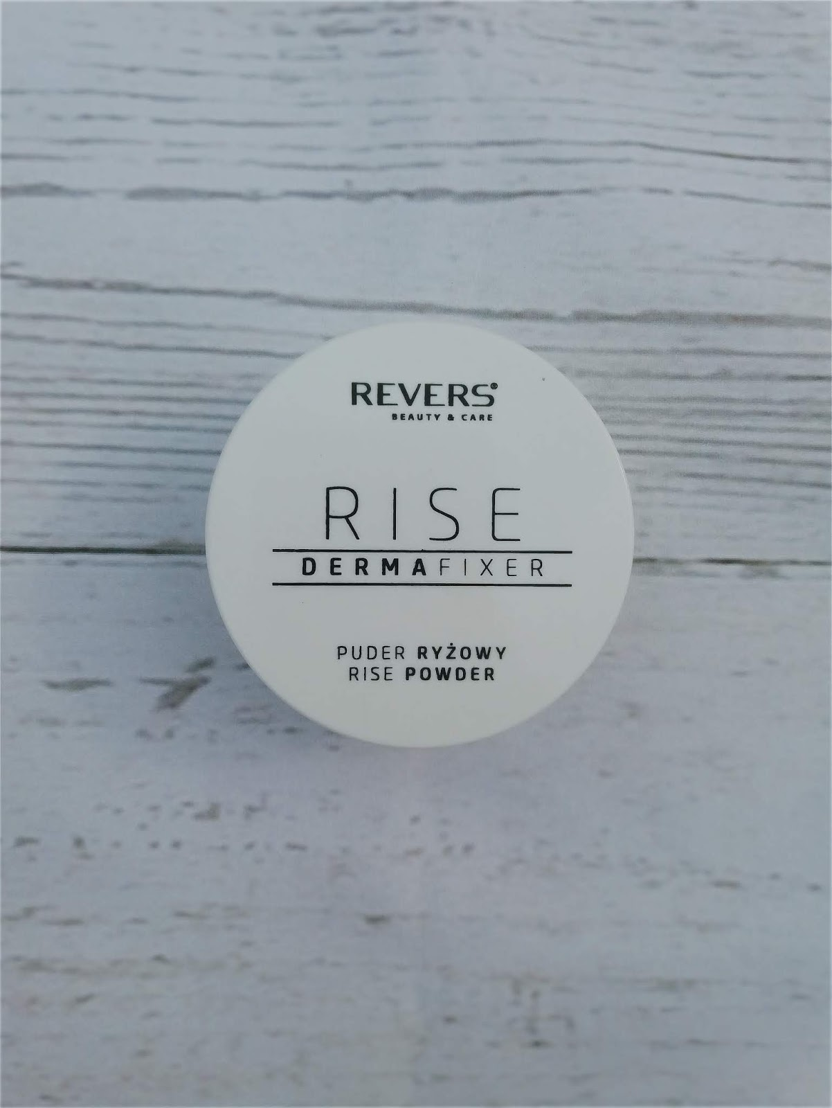REVERS, RISE DERMAFIXER, PUDER RYŻOWY