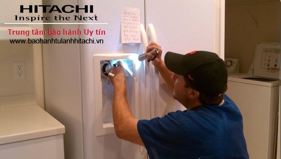 Sửa tủ lạnh hitachi lỗi F019(Lỗi bộ lấy đá ngoài)