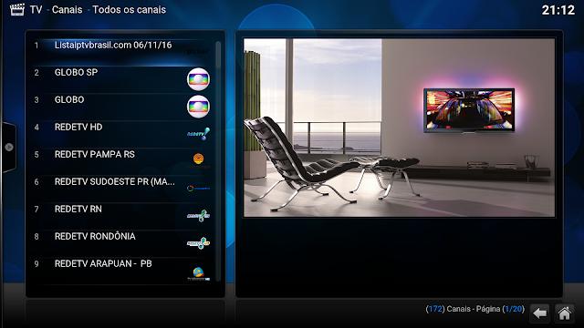 Lista de canais Atualizadas diariamente - KODI TV