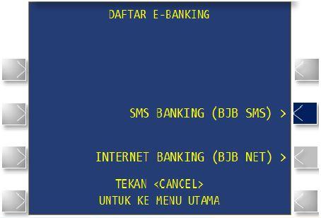 Cara Mengaktifkan Layanan BJB SMS Melalui ATM