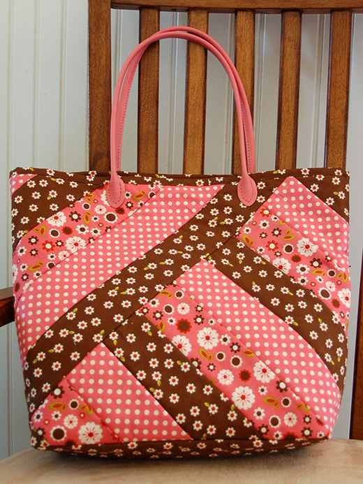 Strips for Stripes Tote Free Pattern