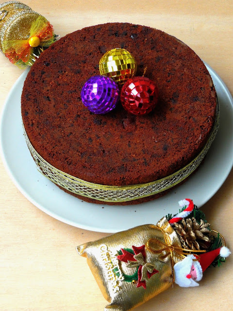 No Maida, No Sugar Christmas Fruit Cake