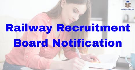 Railway Recruitment Board Notifications