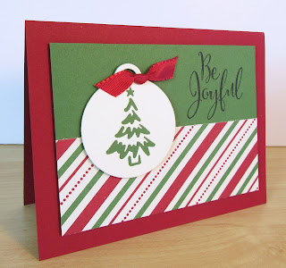 Christmas card by Rachel Durtschi featuring StampinUp's Merry Tags die set