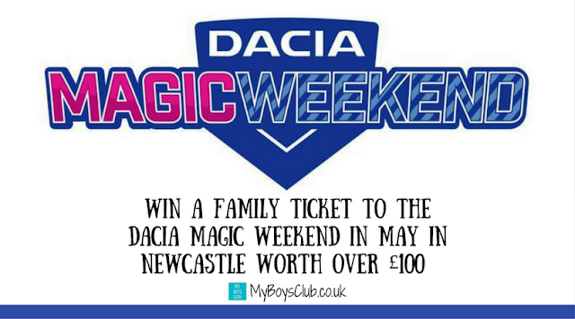 Win a Family Ticket to the Dacia Magic Weekend in Newcastle worth over £100