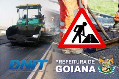 Prefeitura cobra do DNIT obra na pista que dá acesso á entrada da cidade