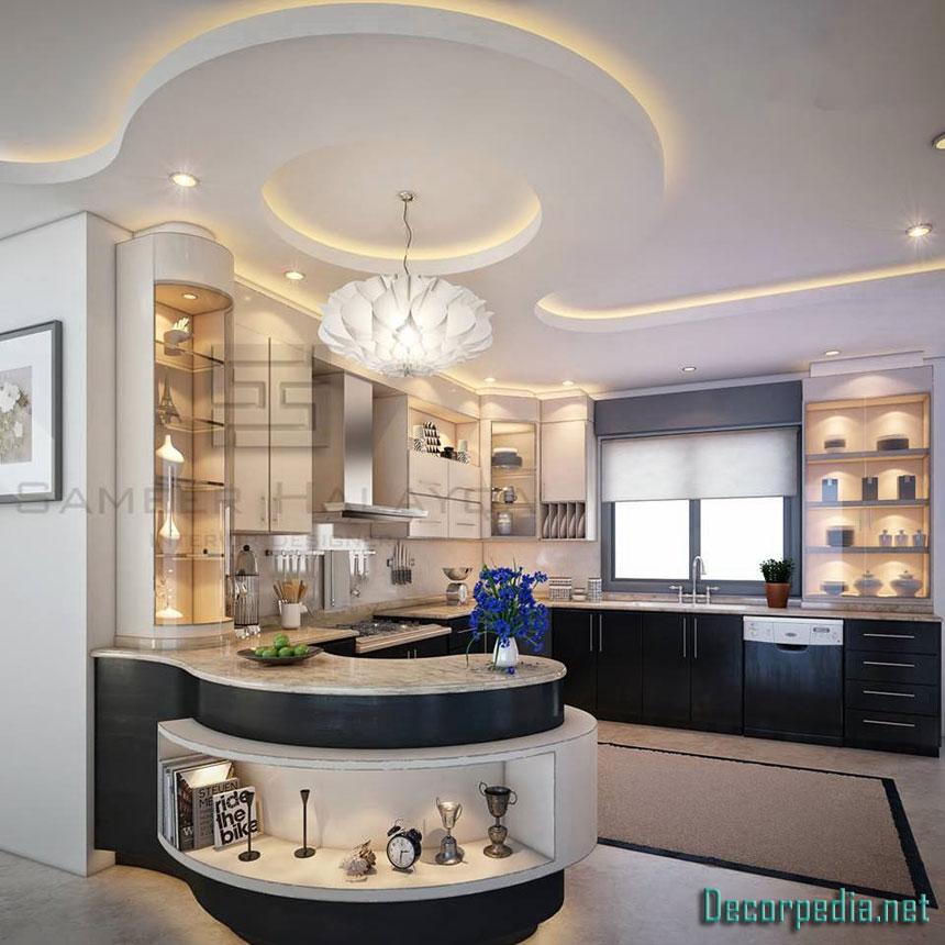 50 Best Small Kitchen Ideas And Designs For 2019: The Best 50 Gypsum Board Ceiling And False Ceiling Designs