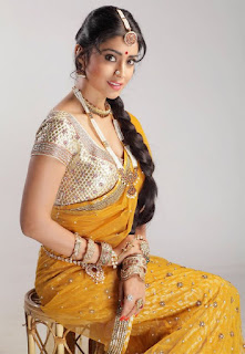 shriya saran in yellow saree