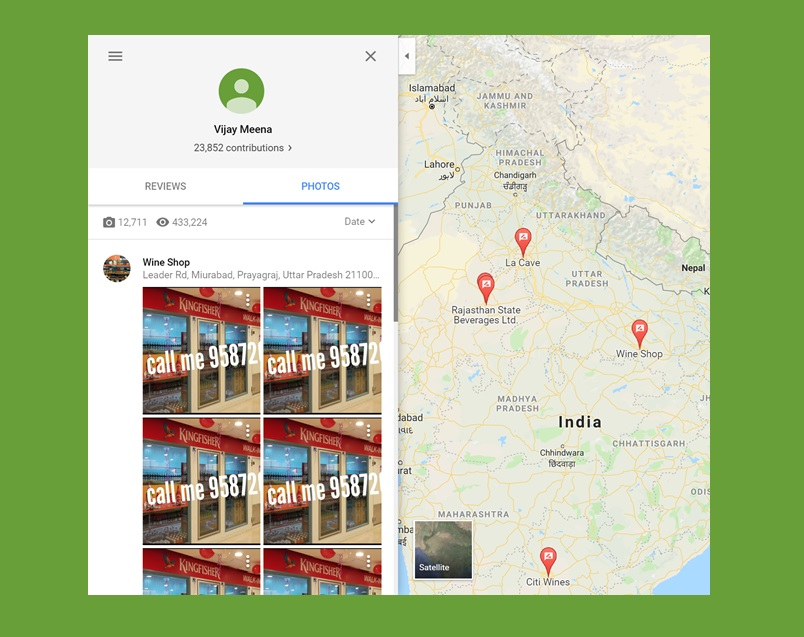 Scammers are using Google Maps for rampant booze-delivery scam in India, severe lack of moderation to blame
